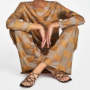 Zara Strappy Sandal with Metallic Detail